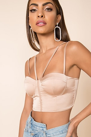 x Chantel Jeffries Jocelyn Strappy Bustier Top