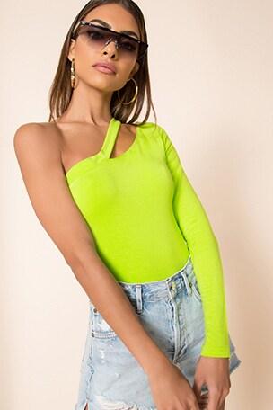 Jaylee Asymmetrical Bodysuit