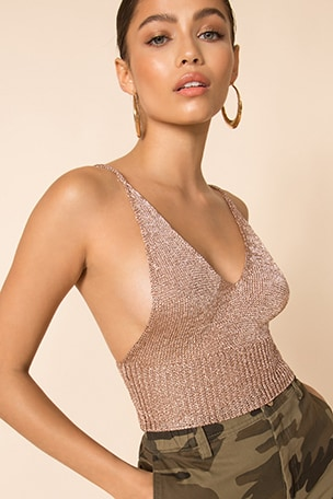Leisha Knit Crop Top
