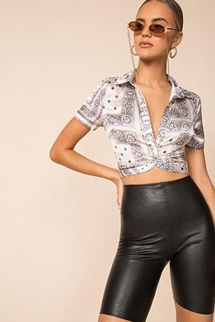 Jenela Twist Front Shirt