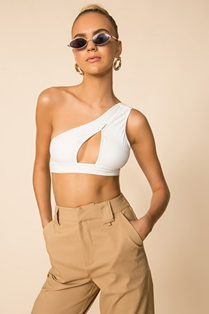 Harlie Asymmetrical Crop Top