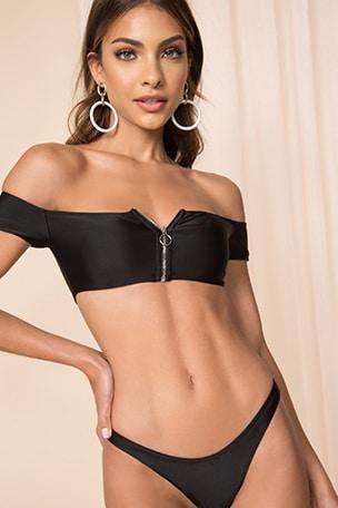 x REVOLVE Kayla Zip Bikini Top