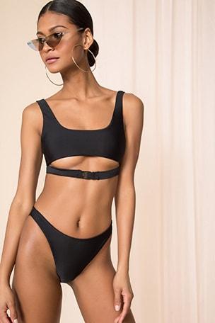 x REVOLVE Mona Buckle Bikini Top