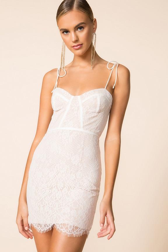 5ef0e9967f4 Superdown Lottie Lace Bustier Dress | superdown