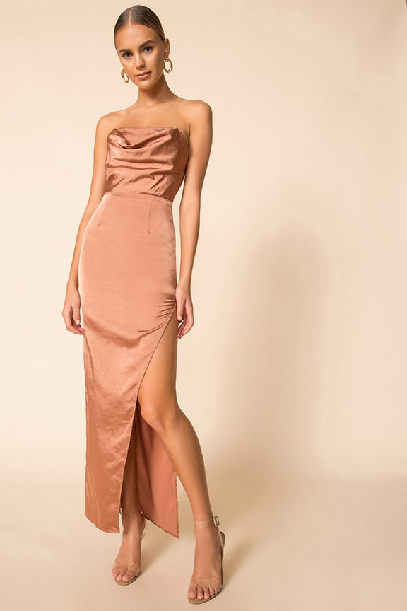 choose latest limpid in sight get cheap Superdown Farah Satin Maxi Dress | superdown
