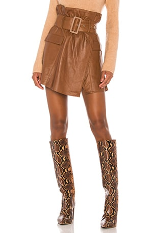 Brandy Leather Skirt