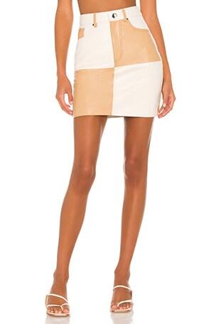 Vianka Leather Mini Skirt