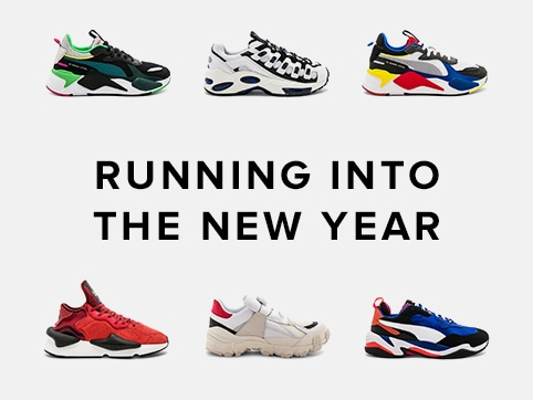 Running into the new year. Put your best foot forward with these top sneakers from Puma Select, Vans, Y-3 Yohji Yamamoto + more!