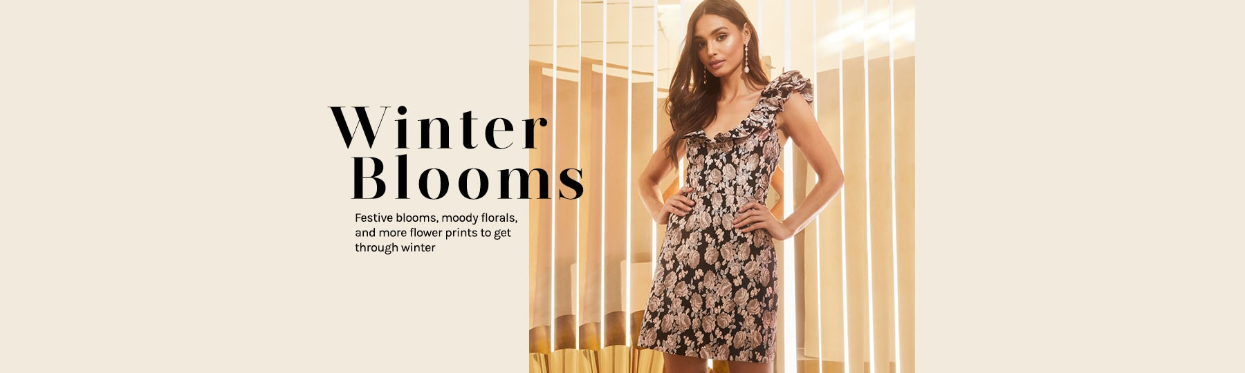 Winter Blooms. Festive blooms, moody florals, and more flower prints to get through winter. Shop The Edit