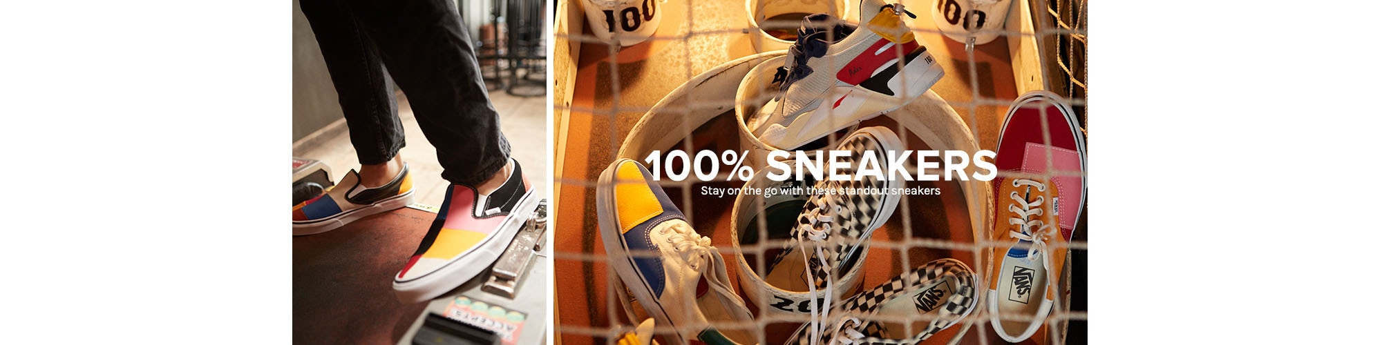 100% Sneakers. Stay on the go with these standout sneakers. Shop All Sneakers.