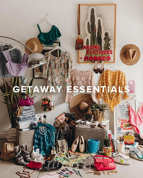 Getaway Essentials. Get your suitcase ready for the cutest new vacation looks from dresses to crop tops & all the accessories.
