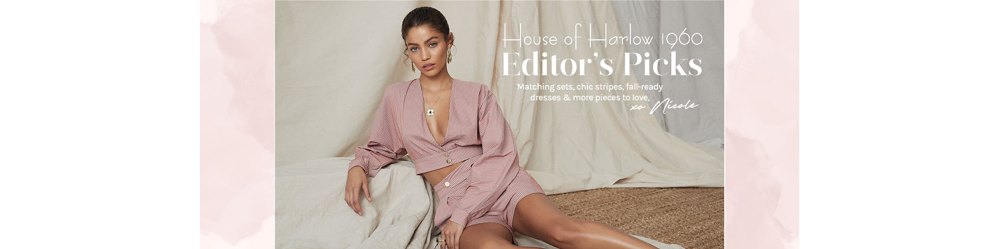 House of Harlow 1960 Editor\'s Picks. Matching sets, chic stripes, fall-ready dresses & more pieces to love, xo Nicole. Shop The Collection.