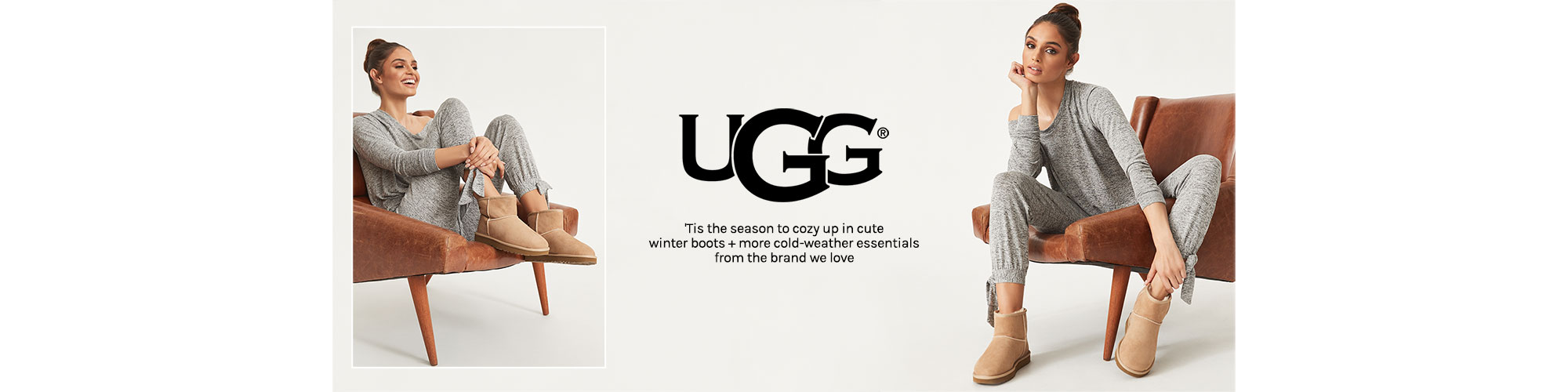 UGG.  \'Tis the season to cozy up in cute winter boots + more cold-weather essentials from the brand we love.