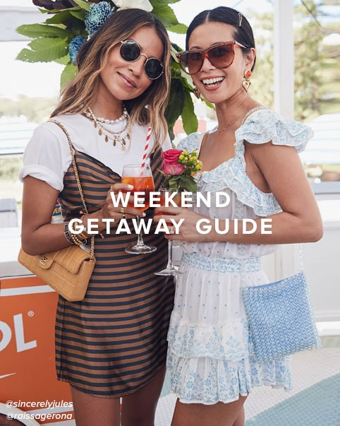 Weekend Getaway Guide. All the essentials you need to pack when you\u2019re going away for the weekend.
