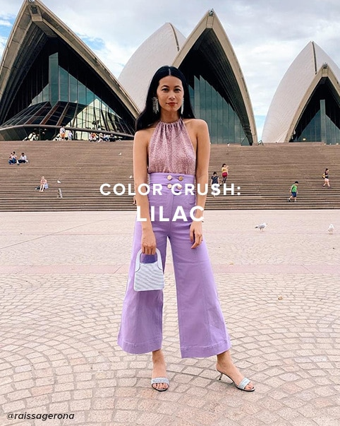 color crush: Lilac. The pale purple hue that will take over your closet. shop the edit.