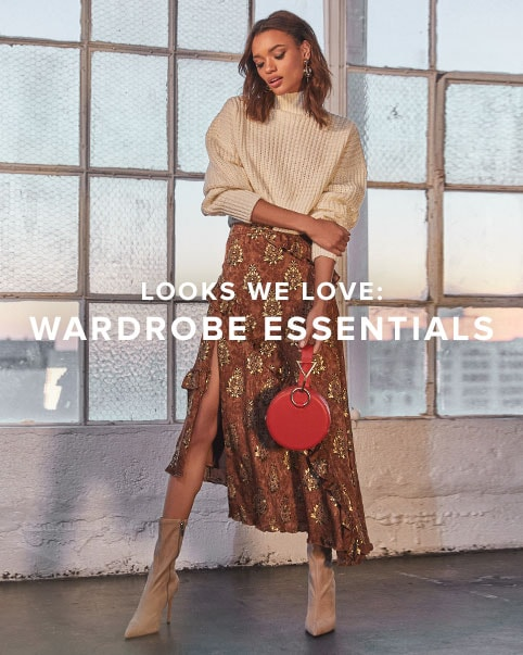 Looks We Love: Wardrobe Essentials. Fill your closet with the perfect staples that last season to season. Shop the edit.