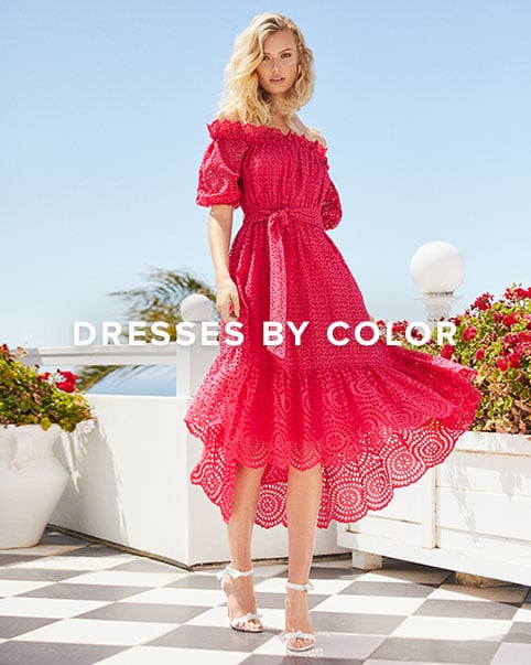 Dresses by Color. Every shade of the rainbow plus the nude + white hues you love.