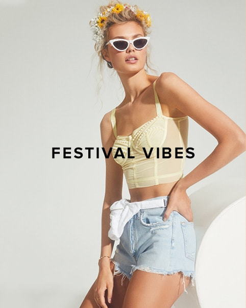 Festival Vibes. Hey desert babes! It\'s almost that time again & whatever your festival vibe is this season, we have the perfect \'fit for you. Shop the Edit