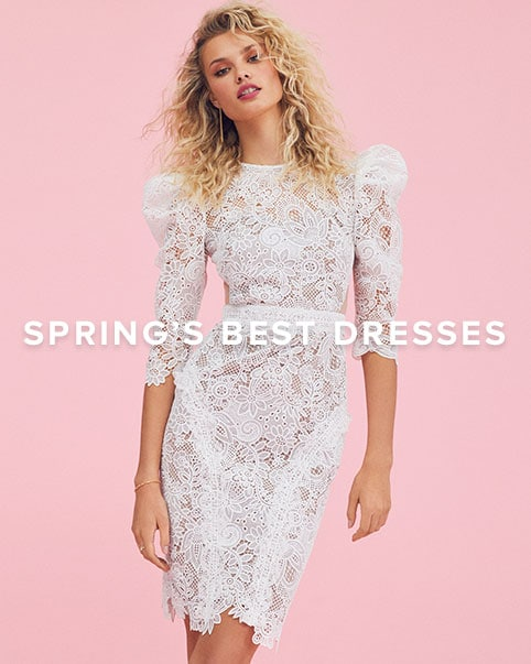Spring\'s Best Dresses. Pretty dresses to wear all season long - from lace to white to boho & more. Shop the edit.