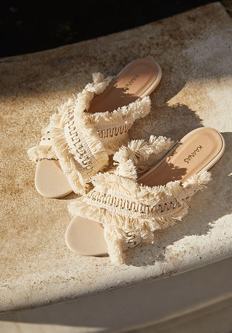 Ibiza Frayed Multi Slide