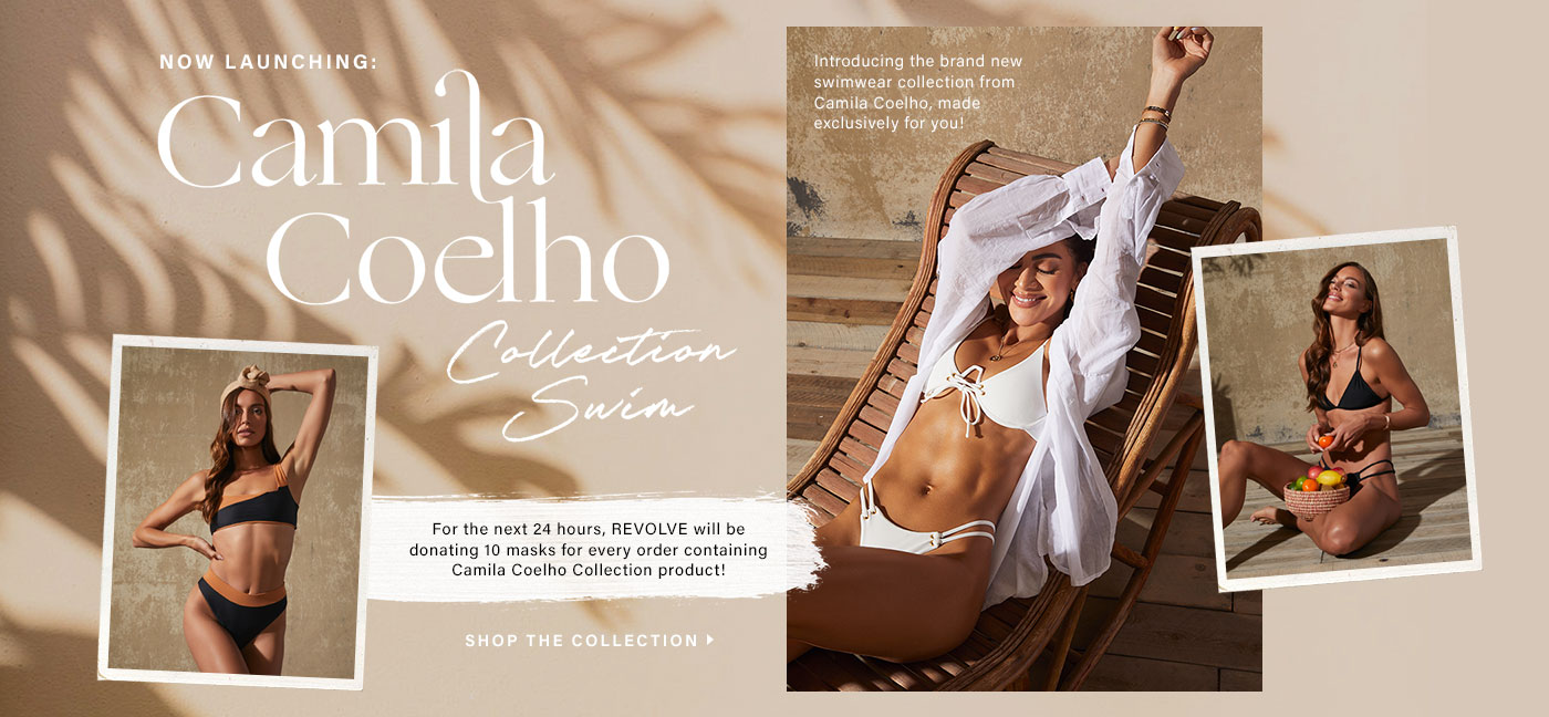 Now Launching: Camila Coelho Collection Swim. Introducing the brand new swimwear collection from Camila Coelho, made exclusively for you!