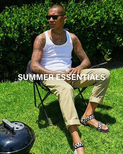 SUMMER ESSENTIALS. Everything you need to beat the heat from John Elliott, Rolla's, Zanerobe + more. SHOP NOW