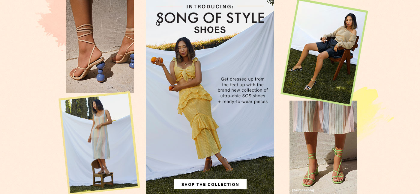 Introducing: Song of Style Shoes: Get dressed up from the feet up with the brand new collection of ultra-chic SOS shoes + ready-to-wear pieces