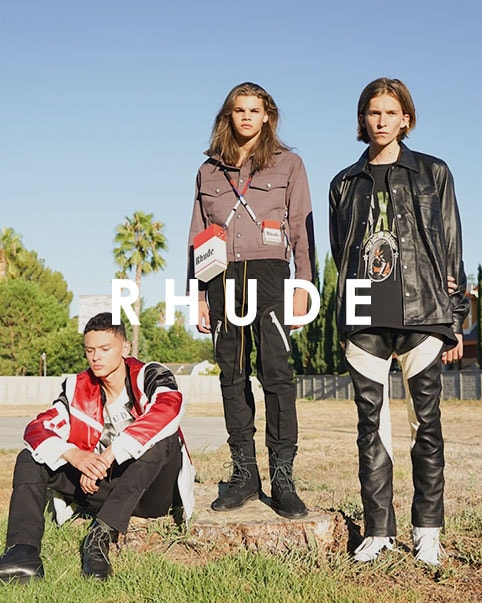 RHUDE. Balancing luxury techniques with streetwear elements, Los Angeles designer Rhuigi Villaseñor continues to give us hit after hit.