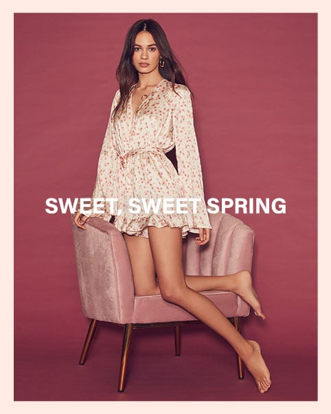 Sweet, Sweet Spring: The season's prettiest + most feminine pieces that will make your day, from floral rompers to sweet little dresses and beyond