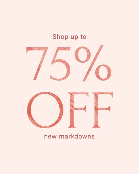 A cream colored sale graphic that says: THE CYBER MONDAY SALE: Shop up to 75% off. Shop all Sale.