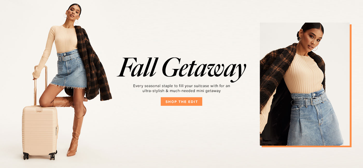 Fall Getaway. Every seasonal staple to fill your suitcase with for an ultra-stylish & much-needed mini getaway
