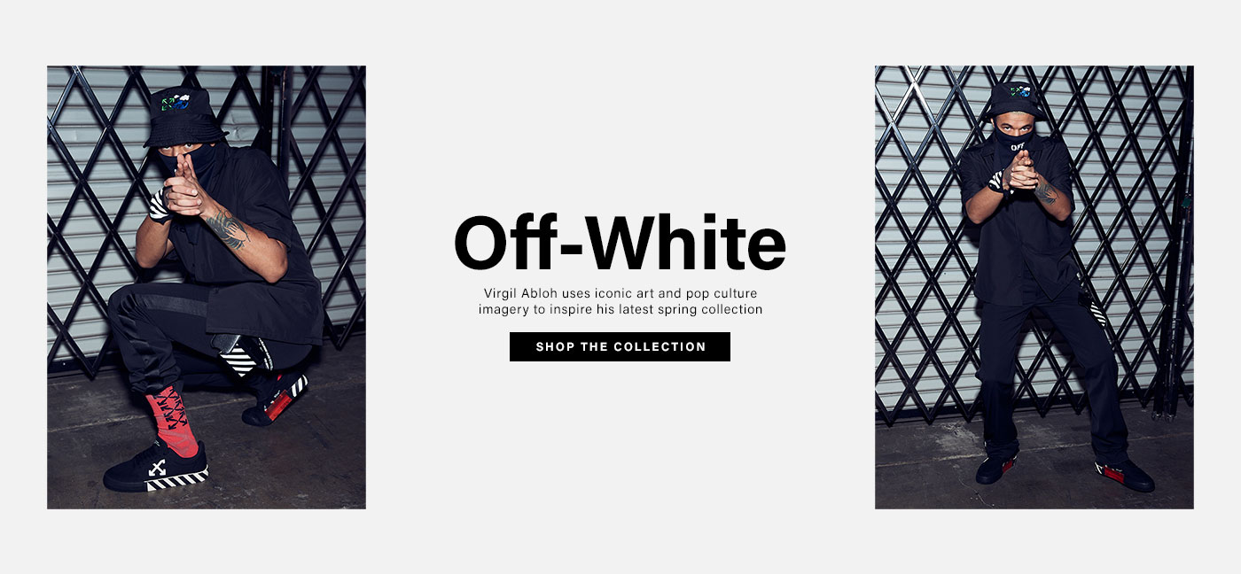 Off-White. Virgil Abloh uses iconic art and pop culture imagery to inspire his latest spring collection. SHOP THE COLLECTION