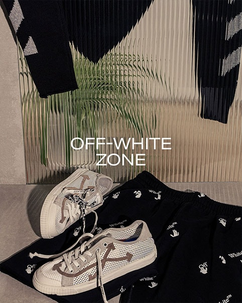 Off-White Zone. Celebrated for its merging of culture and fashion, Off-White continues to deliver refreshingly elevated streetwear essentials. SHOP THE COLLECTION