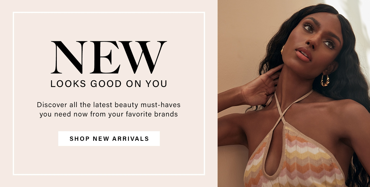 A model tilts her head back letting her long wavy dark hair fall behind her. New Looks Good on You. Discover all the latest beauty must-haves you need now from your favorite brands. Shop New Arrivals.