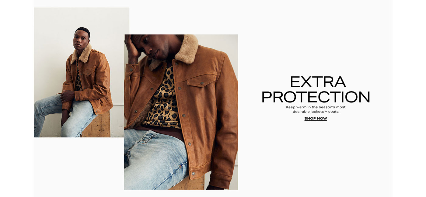 Extra Protection - Keep warm in the season\u2019s most desirable jackets + coats - Shop Now